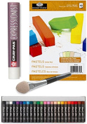 Oil Pastel Kit - 25 colours with Pastel Paper Pad & Applicator smudger with clear blender / Extender set