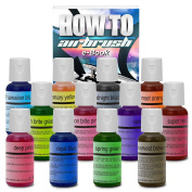 Chefmaster Cake Decorating Food Colouring Airbrush Paint Set - 12 Colours .1890ml