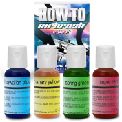 Chefmaster Cake Decorating Food Colouring Airbrush Paint Set - 4 Colours .1890ml