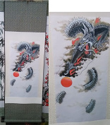 NWFashion Ancient Traditional Chinese Ink Dragon Drawing Priter Hanging Painting
