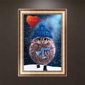 Wrisky 5D Diamond Embroidery Painting DIY Pet Owl Mosaic Stitch Craft Kit Home Decor
