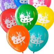 Art Party Balloons (16 pcs) Assorted Colours by Nerdy Words