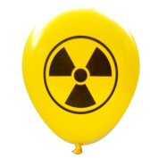 Radioactive Symbol Balloons (16 pcs) All Yellow by Nerdy Words