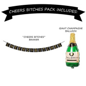 """Cheers B*tches"" Bachelorette Party Banner Set – Bachelorette Party Decorations, Favours, and Supplies"