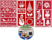 Christmas Stencil (3) Pack , Over N Over Reusable + How to Etch CD