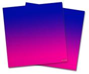 WraptorSkinz Vinyl Craft Cutter Designer 12x12 Sheets Smooth Fades Hot Pink Blue - 2 Pack