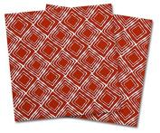 WraptorSkinz Vinyl Craft Cutter Designer 12x12 Sheets Wavey Red Dark - 2 Pack
