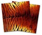 WraptorSkinz Vinyl Craft Cutter Designer 12x12 Sheets Fractal Fur Tiger - 2 Pack
