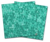 WraptorSkinz Vinyl Craft Cutter Designer 12x12 Sheets Triangle Mosaic Seafoam Green - 2 Pack