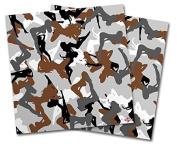 WraptorSkinz Vinyl Craft Cutter Designer 12x12 Sheets Sexy Girl Silhouette Camo Brown - 2 Pack