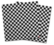 WraptorSkinz Vinyl Craft Cutter Designer 12x12 Sheets Chequered Canvas Black and White - 2 Pack