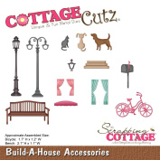 CottageCutz Die-Build-A-House Acces. Bicycle & Bench