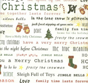 Christmas Joy Words 12x12 Scrapbook Paper - 4 Sheets