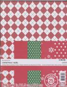 8.5x11 Printed Cardstock Paper Pack - Christmas Basics - 25 Sheets