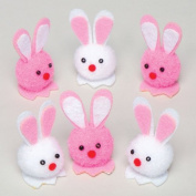 Mini Coloured Pom Pom Bunnies for Children to Decorate Easter Scenes Crafts Projects - Spring Party Bag Stuffer