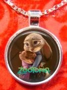 1 ZOOTOPIA Silver Bezel Pendant Necklace #4