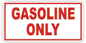 1-Pc Paradisiacal Popular Gasoline Only Car Stickers Signs Truck Gasoline Turbo Label Gas Decor Size 5.1cm - 1.3cm x 13cm Colour White with Red Text