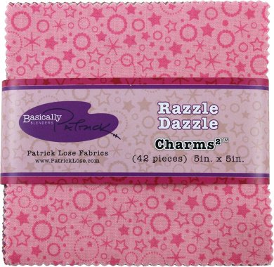 Basically Patrick Blenders Razzle Dazzle Charms 42 13cm Squares Charm Pack Patrick Lose Fabrics