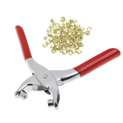 SCASTOE Grommet Pliers Eyelets Set For DIY Shoes Clothes Manual Tools Kit + 100 Eyelets
