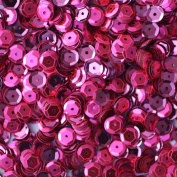 50gram/Park 6mm Cup Facet Round SEQUIN Loose sequins for embroidery, bridal, applique, arts, crafts, and embellishment Selling Per Pack FUSCHIA