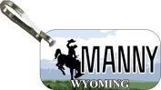 Personalised Wyoming A Zipper Pull State Licence Plate Replica