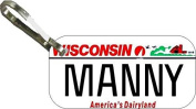 Personalised Wisconsin 2000 Zipper Pull State Licence Plate Replica