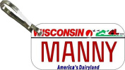 Personalised Wisconsin 1987 Zipper Pull State Licence Plate Replica