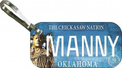 Personalised Oklahoma Chickasaw Zipper Pull State Licence Plate Replica