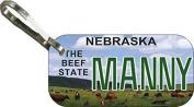 Personalised Nebraska 2015 Zipper Pull State Licence Plate Replica
