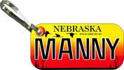 Personalised Nebraska 2002 Zipper Pull State Licence Plate Replica