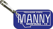 Personalised Montana 2010 Zipper Pull State Licence Plate Replica