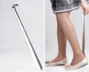 "16.5"" Inch (42cm) Long Shoe Horn Stainless Steel Silver Metal Shoes Remover Shoehorn"