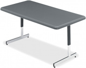 Iceberg ICE65727 IndestrucTable TOO Adjustable Height Resin Utility Table, 150cm Length x 80cm Width, 50cm - 80cm Height, Charcoal