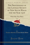The Proceedings of the Linnean Society of New South Wales for the Year 1916, Vol. 41