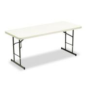 Iceberg ICE65623 IndestrucTable TOO 1200 Series Adjustable Height Plastic Folding Table, 180cm by 80cm , Platinum