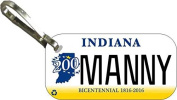 Personalised Indiana 2013 Zipper Pull State Licence Plate Replica