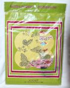 Vintage Vogart Crewel Sparkle BUTTERFLIES Stitchery Kit No. 699D