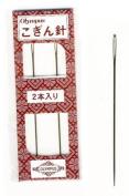 Notions - Sashiko Kogin Ebroidery Needles -Blunt Tip, Large Eye Needles - 2 Pack