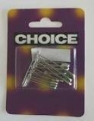 Choice 24 Chromed Safety Pins 3 Sizes