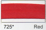Berisfords R77750/725 | Red Polycotton Bias Binding | 50mm x 20m