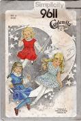 Simplicity # 9611 Little Girls' Pullover Dress, Jumper & Blouse Sewing Pattern Size