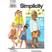 Simplicity # 7732 Dress, Jacket, Top, Shorts & Kitty Purse Sewing Pattern Size