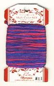 Olympus Kogin Sashiko Embroidery Thread - Multi-Coloured 6-Strand Cotton Floss- M11
