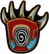 Native Bear Claw Symbol 10cm Embroidered Patch NOVPA8900