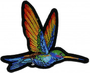 Humming Bird Colourful 10cm Embroidered Patch NOVPAhummingbird