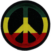 Reggae Peace Sign 7.6cm Embroidered Patch NOVP443