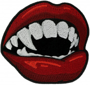 Vampire Teeth & Mouth 10cm Embroidered Patch NOVPA8590