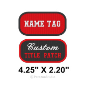 Custom Embroidered Name Tag Title Patch Motorcycle Biker Badge 11cm X 5.6cm