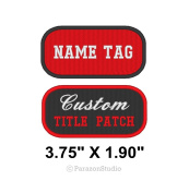 Custom Embroidered Name Tag Title Patch Motorcycle Biker Badge 9.5cm X 4.8cm