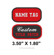 Custom Embroidered Name Tag Title Patch Motorcycle Biker Badge 8.9cm X 4.6cm